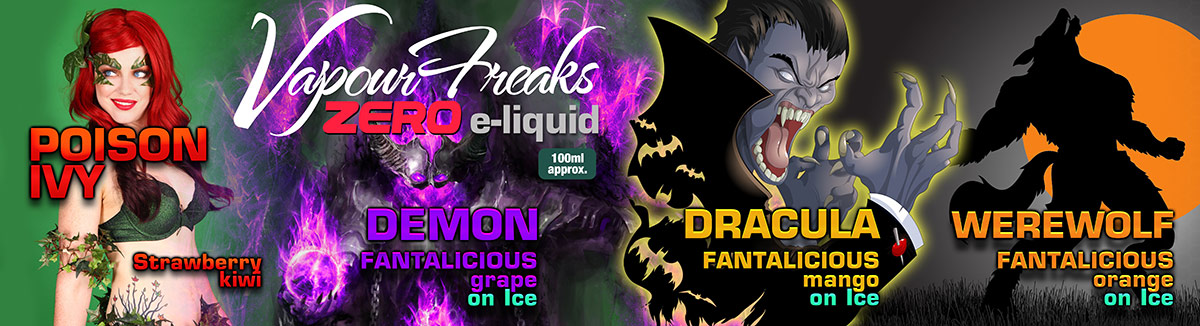 Vapour Freaks Zero e-liquids 100ml bottles